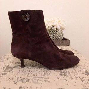 Loft Brown Suede Ankle Boots
